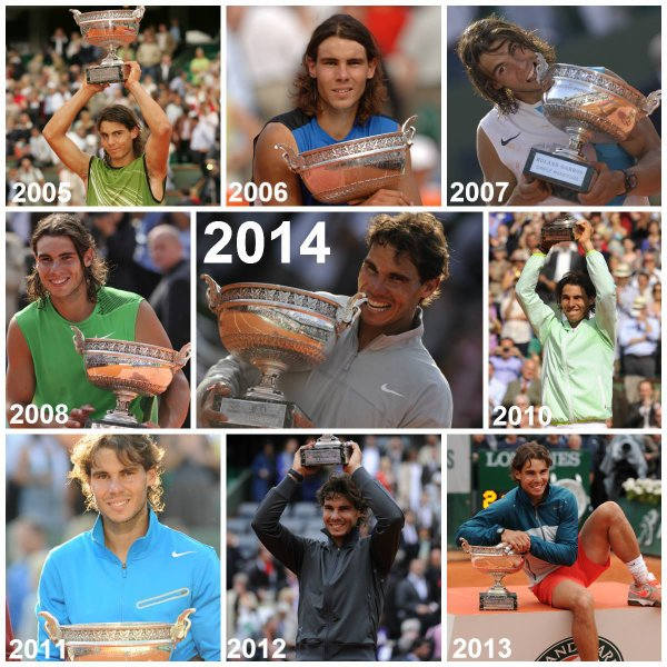 Rafa & Maria _the king & the queen of Roland Garros 2014 !_