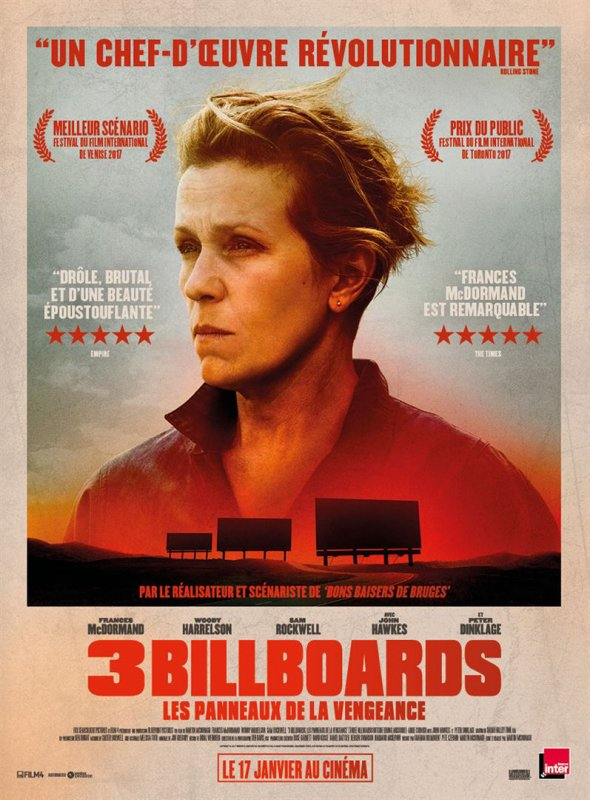 3 Billboards / In the Fade / 2 films sombres - 2 actrices récompensées
