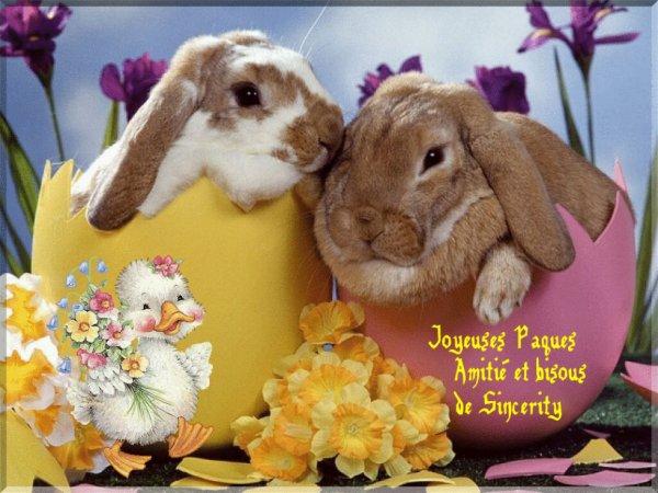Joyeuses Fêtes de Pâques...