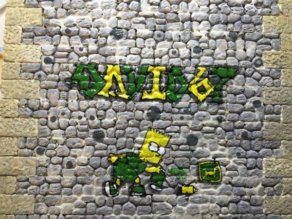 Des salopiauds sont venus faire une tag sur le mur, mais vu le résultat je leur en veut pas :)