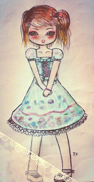 Dessin d'une Lolita kawaii par moi ! *^*