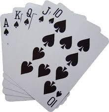 Un flush royal dans un jeu de tarot