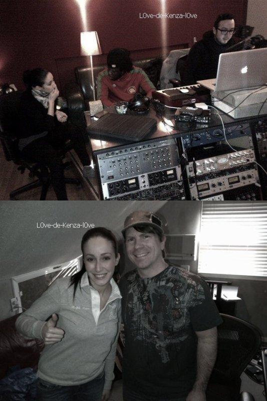 Kenza Farah en studio