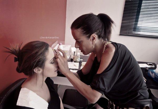 """Kenza Farah et H Mgnum sur le tournage du clip """" Une larme """"!"""