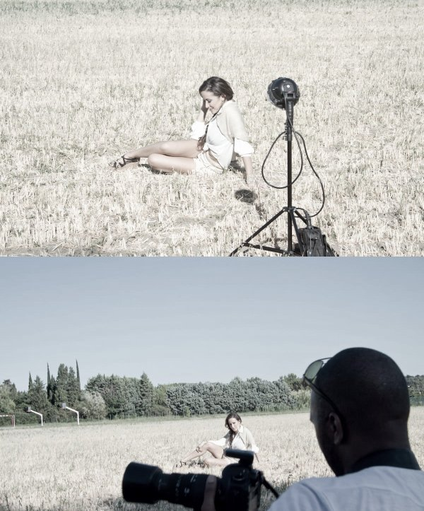 Kenza Farah en shooting avec Beat Bounce