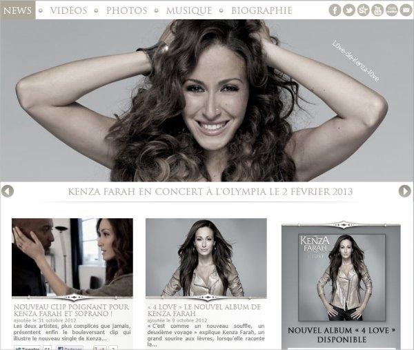 Le site officiel de Kenza Farah est désormais en ligne !