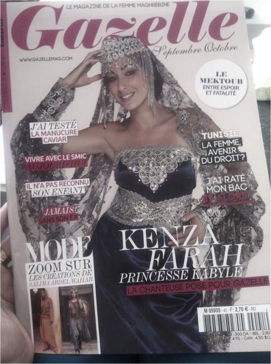 """Kenza Farah à la Une du magazine """" Gazelle """" !"""