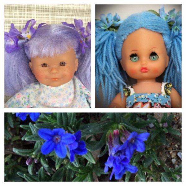 Les filles-couleur à couettes...pour Clo