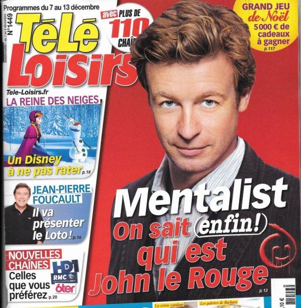 Le Télé Loisir du 30 Novembre 2013