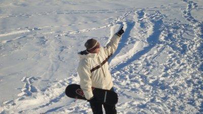 Un apres-midi...........la neige glisse....