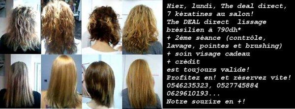 the deal photos clientes lissage bresilien keratine casablanca salon francais de coiffure. Black Bedroom Furniture Sets. Home Design Ideas