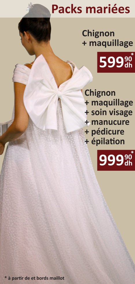 Promo Deal Fetes Packs Mariee Coiffure Maquillage Casablanca