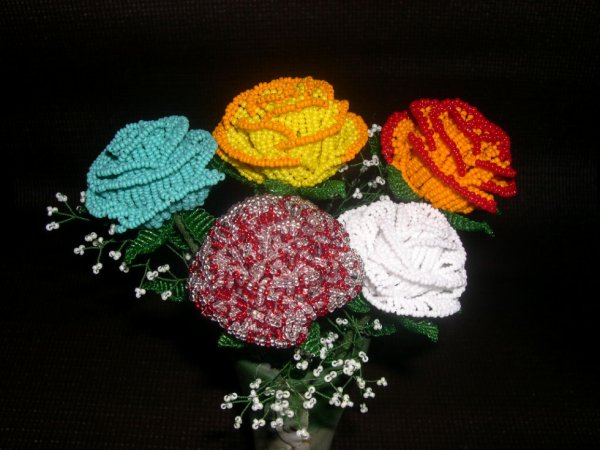 2976 / 5 roses couleurs speciales