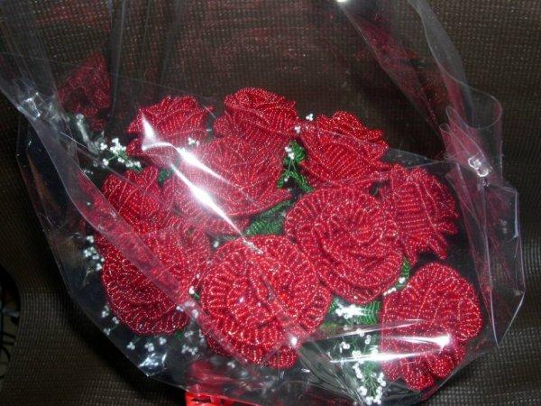 2980 / bouquet de roses rouges