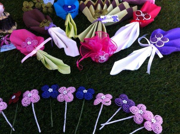3033 assortiment de serviettes avec petites fleurs
