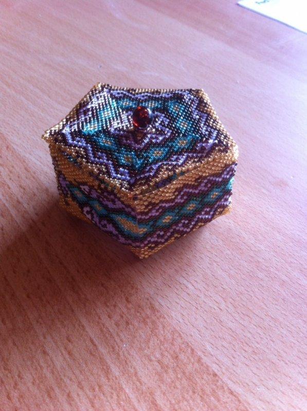 Petite boîte en perles délicats