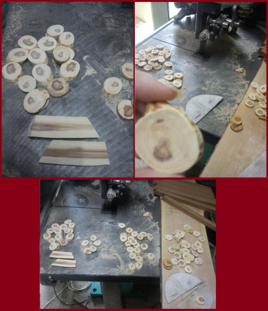 Porte clé en bois fait main