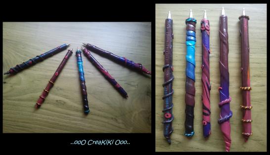 Les stylos billes en fimo !