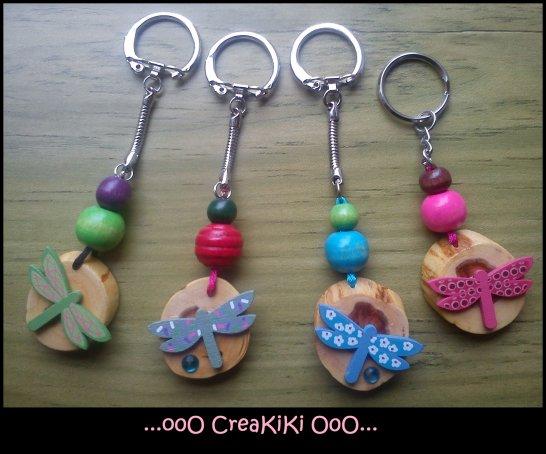 Portes clés en bois fait main