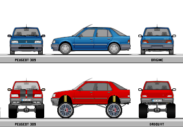 peugeot 309 mangcars (style Donk)