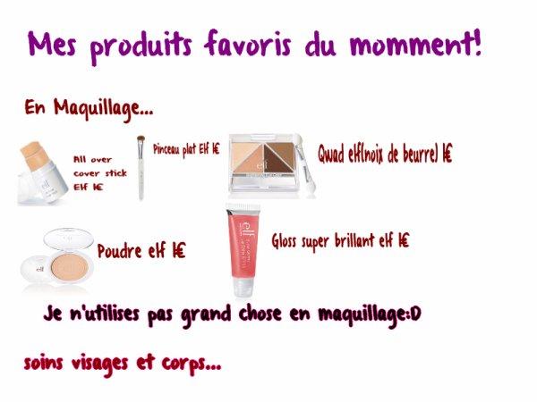 Mes produits cosmetiques favoris du mois d'octobre 2012!