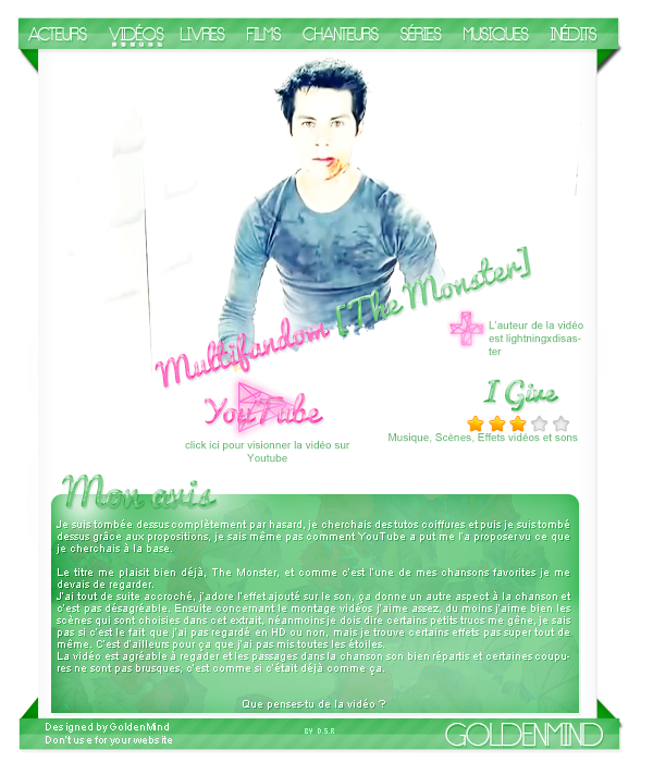 ►Multifandom [The Monster]