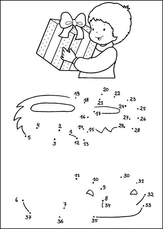 Activités pour enfants - les points à relier.