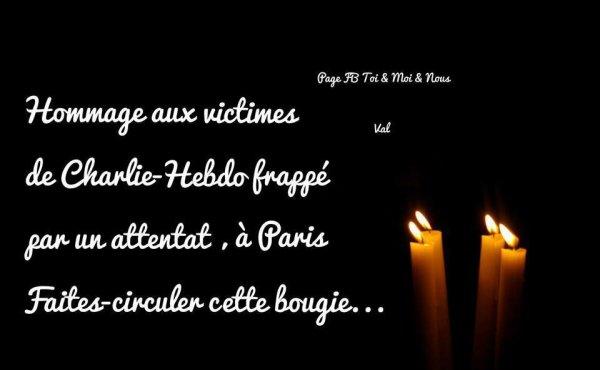 HOMMAGE AUX VICTIMES DE CHARLIE-HEBDO