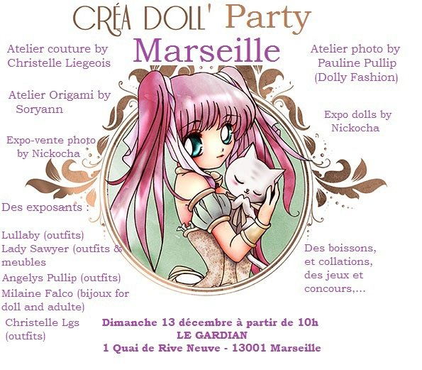 Prochaine Creadoll Party à Marseille !