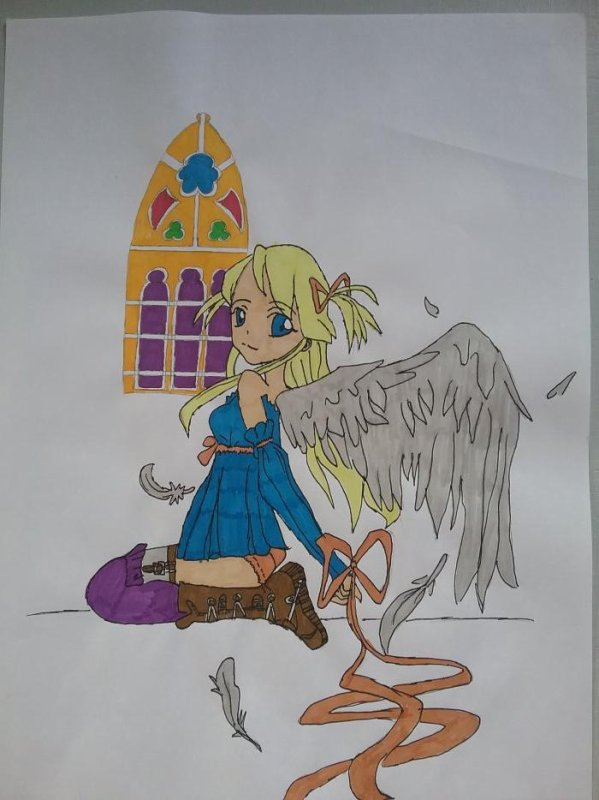 ♤ Dessin d'un ange ♤