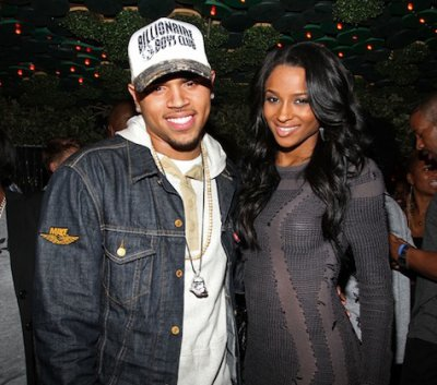 Chris Brown à l'anniversaire de Ciara