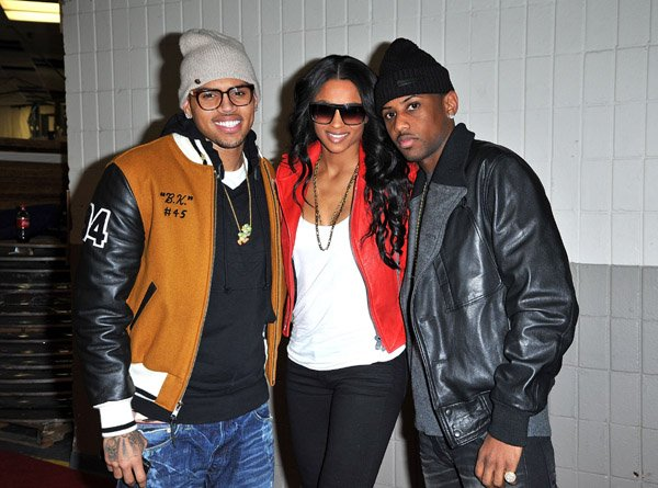 Chris Brown, Ciara & Fabolous au New York Knicks Game