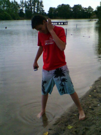 moi au plan d'eau