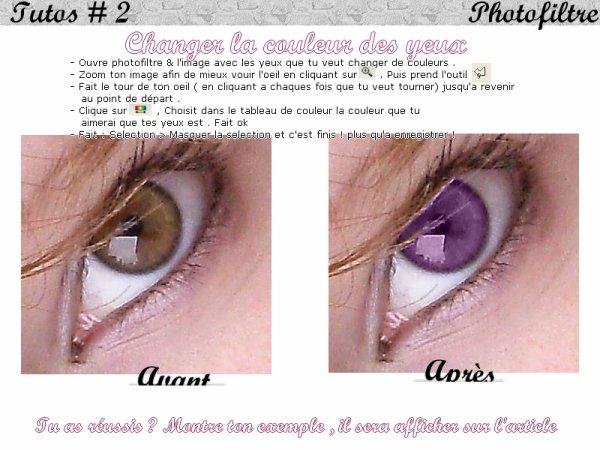 Changer a couleur de nos yeux