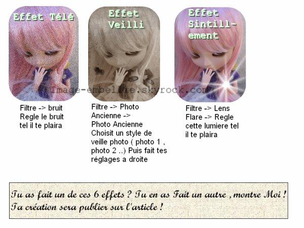 Les effets de photoscapes