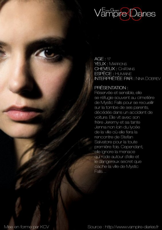 Nina dobrev dans le role de elena et de katerine