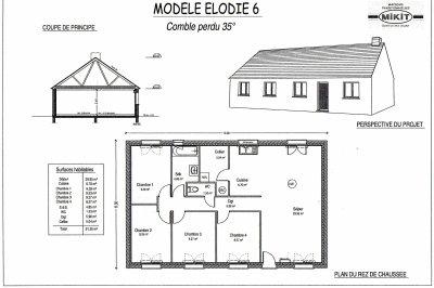 plan d 39 agrandissement de maison plain pied. Black Bedroom Furniture Sets. Home Design Ideas