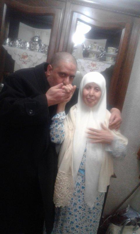 C'est moi et cette femme est ma mère Fatima