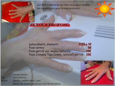 pose d ongles