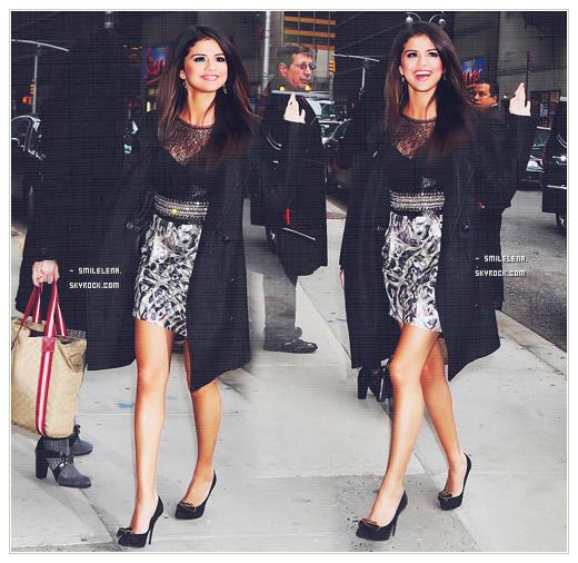 - (14/03/2011) ♦  Selena se rendant avec ses extensions puis sortant sans dans l'émission « Late Night Show with David Letterman »Top ou Flop ♥ ?