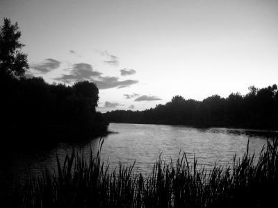 une autre du paysage mais en noir et blanc !!