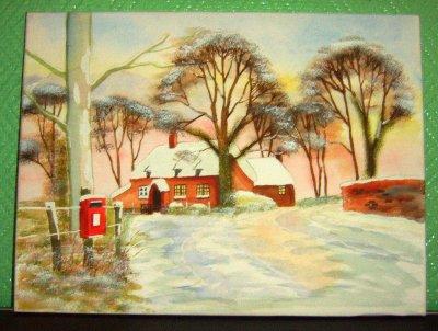 une de mes créations l'hiver sous la neige