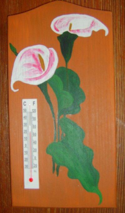 peinture acrylique sur support en bois