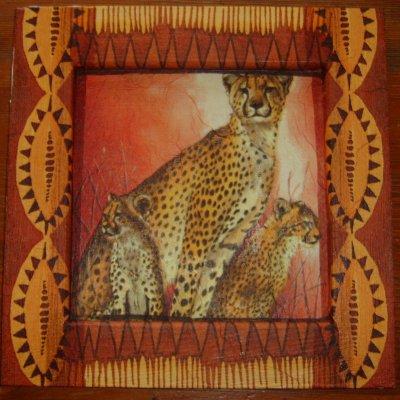 tableau bois safari