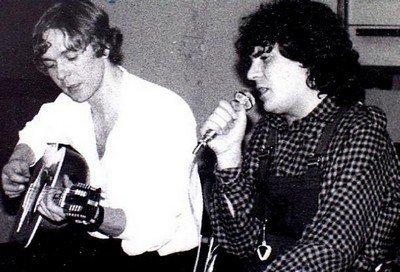 Daniel et son guitariste Colin Swinburne