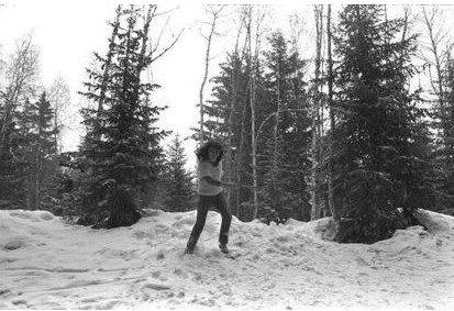 Le jeune Daniel à la neige