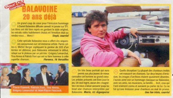 Deux articles sur Daniel Balavoine, 20 ans déjà ! ♥