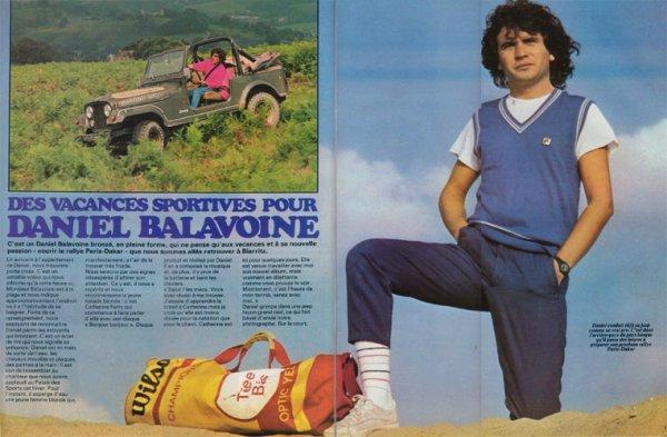 Des vacances sportives pour Daniel Balavoine