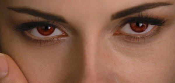 les yeux rouge