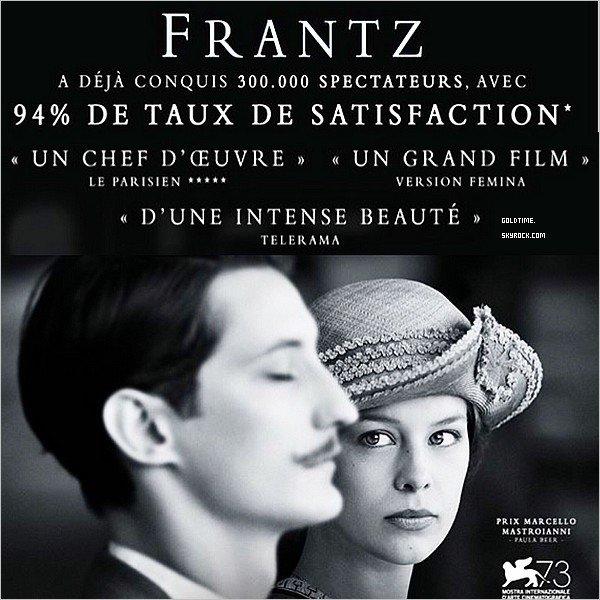 _ 28/09 : Pierre Niney et le casting à la première de Frantz à Berlin . C'est un TOP pour Pierre ! Hormis les chaussures, je le trouve très classe. Vos avis ? .